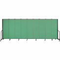 "Screenflex Portable Room Divider - 9 Panel - 6'H x 16'9""L - Sea Green"