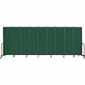 "Screenflex 9 Panel Portable Room Divider, 6'H x 16'9""L, Fabric Color: Green"