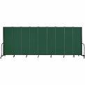 "Screenflex Portable Room Divider - 9 Panel - 6'H x 16'9""L - Green"
