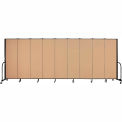 "Screenflex Portable Room Divider - 9 Panel - 6'H x 16'9""L - Wheat"