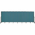 "Screenflex 11 Panel Portable Room Divider, 6'8""H x 20'5""L, Fabric Color: Lake"