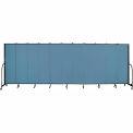 "Screenflex 11 Panel Portable Room Divider, 6'8""H x 20'5""L, Fabric Color: Summer Blue"