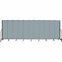 "Screenflex 11 Panel Portable Room Divider, 6'8""H x 20'5""L, Fabric Color: Grey Stone"