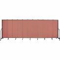 "Screenflex 11 Panel Portable Room Divider, 6'8""H x 20'5""L, Fabric Color: Cranberry"