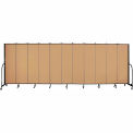 "Screenflex 11 Panel Portable Room Divider, 6'8""H x 20'5""L, Fabric Color: Sand"