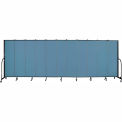 "Screenflex 11 Panel Portable Room Divider, 6'8""H x 20'5""L, Fabric Color: Blue"
