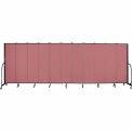 """Screenflex 11 Panel Portable Room Divider, 6'8""""H x 20'5""""L, Fabric Color: Mauve"""