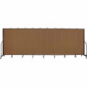 "Screenflex 11 Panel Portable Room Divider, 6'8""H x 20'5""L, Fabric Color: Oatmeal"