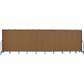 "Screenflex 13 Panel Portable Room Divider, 6'8""H x 24'1""L, Fabric Color: Walnut"