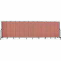 "Screenflex 13 Panel Portable Room Divider, 6'8""H x 24'1""L, Fabric Color: Cranberry"