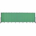 "Screenflex 13 Panel Portable Room Divider, 6'8""H x 24'1""L, Fabric Color: Sea Green"
