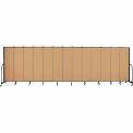 "Screenflex 13 Panel Portable Room Divider, 6'8""H x 24'1""L, Fabric Color: Sand"