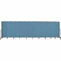 "Screenflex 13 Panel Portable Room Divider, 6'8""H x 24'1""L, Fabric Color: Blue"