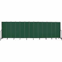 "Screenflex 13 Panel Portable Room Divider, 6'8""H x 24'1""L, Fabric Color: Green"