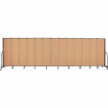 "Screenflex 13 Panel Portable Room Divider, 6'8""H x 24'1""L, Fabric Color: Wheat"