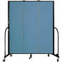 "Screenflex 3 Panel Portable Room Divider, 6'8""H x 5'9""L, Fabric Color: Summer Blue"