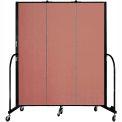 "Screenflex 3 Panel Portable Room Divider, 6'8""H x 5'9""L, Fabric Color: Cranberry"