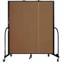 "Screenflex 3 Panel Portable Room Divider, 6'8""H x 5'9""L, Fabric Color: Oatmeal"