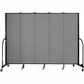 "Screenflex 5 Panel Portable Room Divider, 6'8""H x 9'5""L, Fabric Color: Stone"
