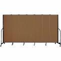 "Screenflex 7 Panel Portable Room Divider, 6'8""H x 13'1""L, Fabric Color: Walnut"