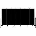 "Screenflex 7 Panel Portable Room Divider, 6'8""H x 13'1""L, Fabric Color: Charcoal Black"