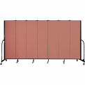 "Screenflex 7 Panel Portable Room Divider, 6'8""H x 13'1""L, Fabric Color: Cranberry"