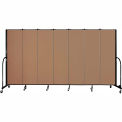 "Screenflex 7 Panel Portable Room Divider, 6'8""H x 13'1""L, Fabric Color: Beech"