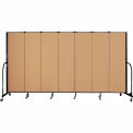 "Screenflex 7 Panel Portable Room Divider, 6'8""H x 13'1""L, Fabric Color: Sand"