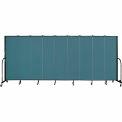 "Screenflex 9 Panel Portable Room Divider, 6'8""H x 16'9""L, Fabric Color: Lake"