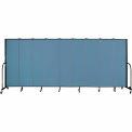"Screenflex 9 Panel Portable Room Divider, 6'8""H x 16'9""L, Fabric Color: Summer Blue"