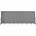 "Screenflex 11 Panel Portable Room Divider, 7'4""H x 20'5""L, Fabric Color: Stone"