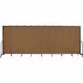 "Screenflex 11 Panel Portable Room Divider, 7'4""H x 20'5""L, Fabric Color: Walnut"