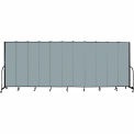 "Screenflex 11 Panel Portable Room Divider, 7'4""H x 20'5""L, Fabric Color: Grey Stone"