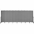 "Screenflex 11 Panel Portable Room Divider, 7'4""H x 20'5""L, Fabric Color: Grey"