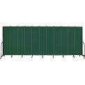 "Screenflex 11 Panel Portable Room Divider, 7'4""H x 20'5""L, Fabric Color: Green"