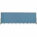 "Screenflex 13 Panel Portable Room Divider, 7'4""H x 24'1""L, Fabric Color: Summer Blue"