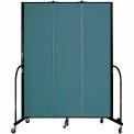 "Screenflex 3 Panel Portable Room Divider, 7'4""H x 5'9""L, Fabric Color: Lake"