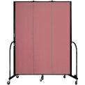 "Screenflex 3 Panel Portable Room Divider, 7'4""H x 5'9""L, Fabric Color: Rose"