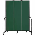 "Screenflex 3 Panel Portable Room Divider, 7'4""H x 5'9""L, Fabric Color: Mallard"