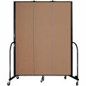 "Screenflex 3 Panel Portable Room Divider, 7'4""H x 5'9""L, Fabric Color: Beech"
