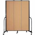 "Screenflex 3 Panel Portable Room Divider, 7'4""H x 5'9""L, Fabric Color: Sand"