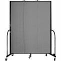 "Screenflex 3 Panel Portable Room Divider, 7'4""H x 5'9""L, Fabric Color: Grey"