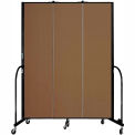 "Screenflex 3 Panel Portable Room Divider, 7'4""H x 5'9""L, Fabric Color: Oatmeal"