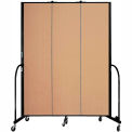 "Screenflex 3 Panel Portable Room Divider, 7'4""H x 5'9""L, Fabric Color: Wheat"