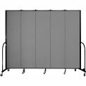 "Screenflex 5 Panel Portable Room Divider, 7'4""H x 9'5""L, Fabric Color: Stone"