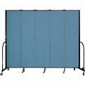 "Screenflex 5 Panel Portable Room Divider, 7'4""H x 9'5""L, Fabric Color: Summer Blue"