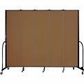 "Screenflex 5 Panel Portable Room Divider, 7'4""H x 9'5""L, Fabric Color: Oatmeal"