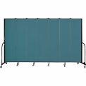 "Screenflex 7 Panel Portable Room Divider, 7'4""H x 13'1""L, Fabric Color: Lake"