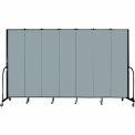 "Screenflex 7 Panel Portable Room Divider, 7'4""H x 13'1""L, Fabric Color: Grey Stone"