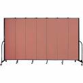 "Screenflex 7 Panel Portable Room Divider, 7'4""H x 13'1""L, Fabric Color: Cranberry"